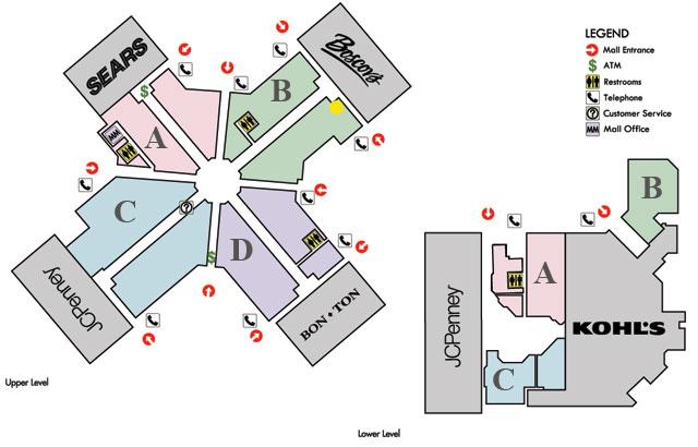 Park City Mall Map Bob's Sports   Park City Center, Lancaster, PA Park City Mall Map